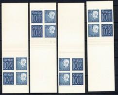 Sverige 1961  Yv  C470a II** (R), C470a III** (S), C470a IV** (T), C470a V** (U) 4 Complete Booklets MNH - Carnets