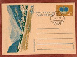 P 80 Krone, Abb Steg Triesenberg, Entwertet Vaduz 1978 (89277) - Ganzsachen