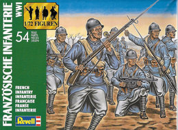 Revell 2505 World War I French Infantry. - Small Figures