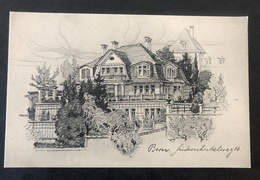 Bern Künstlerkarte Haus Finkenhubelweg 16 - BE Berne