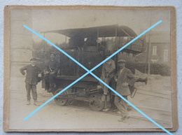 Photo CHARBONNAGE Hainaut Petite Locomotive Train Pre 1914 Charbon Industrie - Berufe