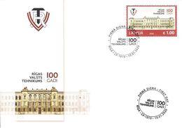Latvia Lettland Lettonie 2020 (02) Riga State Technical School - 100 Years (unaddressed FDC) - Lettland