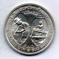 THAILAND, 600 Baht, Silver, Year 1980, KM #138, FAO. - Tailandia