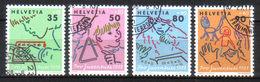 SVIZZERA Us  1988     Mi  1381-84  -  Annullo 1°giorno  - Ersttagstempel   -   Vedi Foto ! - Svizzera