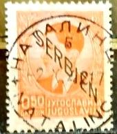KING PETER II-0.50 DIN-OVERPRINT SERBIEN-GERMAN OCCUPATION-POSTMARK NATALINCI - RARE - YUGOSLAVIA - SERBIA - 1941 - Serbie