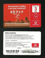 03) Ricarica Vodafone - 42727 Da 3 Euro Scad 2010. 12 - ( Ricariche Recharges Aufladkarten Refills Recargos ) - Italia