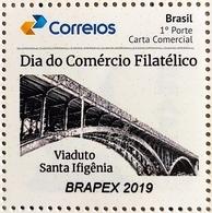 PB 124 Selo Personalizado Básico BRAPEX 2019 Comércio Filatélico Personalized Bridge - Brazilië