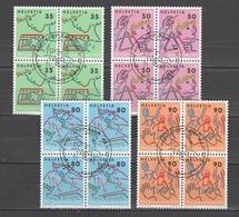 SVIZZERA Us  1988     Mi  1381-84 Quartina   -  Annullo 1°giorno  - Ersttagstempel   -   Vedi Foto ! - Svizzera