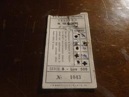 BIGLIETTO  S.C.A.T. CALTANISSETTA TESSERA 1O CORSE AL PORTATORE-LIRE 500 - Season Ticket