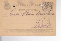 KARTA DOPISNICA  --  1901  --  DALJ Nach ZUPANJA - Kroatien