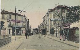 FRANCE - RARE En Couleur - ENGHIEN-LES-BAINS - Grande Rue, Prise Du Pont 1907 - Enghien Les Bains