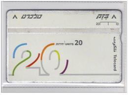Carta Telefonica Israele - 20 U  -  N.02 Carte Telefoniche@Scheda@Schede@Phonecards@Telecarte@Telefonkart2 - Israele