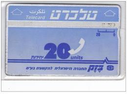 Carta Telefonica Israele - 20 U  -  N.03 Carte Telefoniche@Scheda@Schede@Phonecards@Telecarte@Telefonkart2 - Israele
