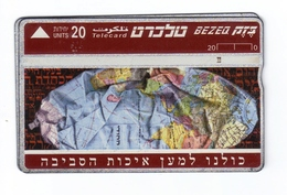 Carta Telefonica Israele - Bezeq  -  Carte Telefoniche@Scheda@Schede@Phonecards@Telecarte@Telefonkarte - Israele
