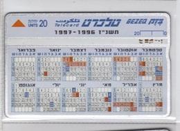 Carta Telefonica Israele - Calendario  -  Carte Telefoniche@Scheda@Schede@Phonecards@Telecarte@Telefonkarte - Israele