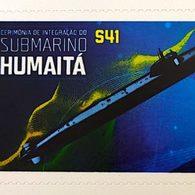 BRAZIL STAMP PB 130 Selo Personalizado Submarino Humaitá 2019 Submarine Ship - Unused Stamps