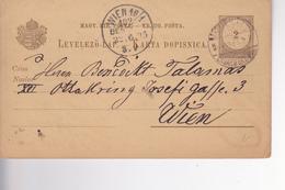 KARTA DOPISNICA  --  AGRAM, ZAGREB Nach WIEN, AUSTRIA  --  1895 - Kroatien