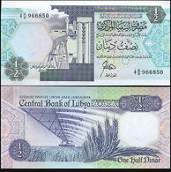 Billet LYBIE ONE HALF DOLLAR - Libya