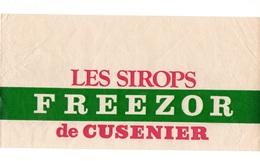 Chapeau En Papier Avec Publicité Les Sirops Freezor De Cusenier - Autres Collections