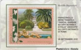 TESSERA FILATELICA VALORE 0,75 EURO ORTO BOTANICO ROMA (FY214 - Filatelistische Kaarten