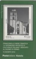 TESSERA FILATELICA VALORE 0,6 EURO DUOMO FERMO (FY218 - Filatelistische Kaarten