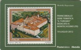 TESSERA FILATELICA VALORE 0,6 EURO MONTECASSINO (FY228 - Filatelistische Kaarten