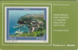 TESSERA FILATELICA VALORE 0,6 EURO USTICA (FY229 - Filatelistische Kaarten
