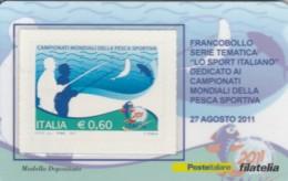 TESSERA FILATELICA VALORE 0,6 EURO PESCA SPORTIVA (FY231 - Filatelistische Kaarten