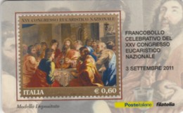 TESSERA FILATELICA VALORE 0,6 EURO CONGRESSO EUCARISTICO (FY232 - Filatelistische Kaarten