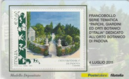 TESSERA FILATELICA VALORE 0,6 EURO ORTO BOTANICO PADOVA (FY240 - Filatelistische Kaarten