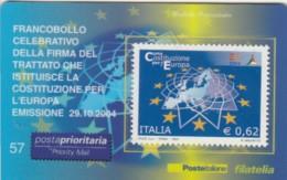 TESSERA FILATELICA VALORE 0,62 EURO COSTITUZIONE PER L'EUROPA (FY311 - 6. 1946-.. Repubblica