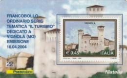 TESSERA FILATELICA VALORE 0,45 EURO VIGNOLA (FY342 - 6. 1946-.. Repubblica