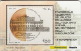 TESSERA FILATELICA VALORE 0,6 EURO PALAZZO ZECCA (FY501 - Filatelistische Kaarten
