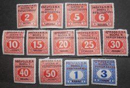 Bosnia And Herzegovina 1918 Postage Due, Complete Set, Mi #1-13, MH, CV=15EUR - Bosnien-Herzegowina