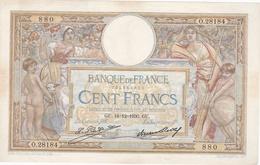 100 Fr Type 1906  LOM Grande Cartouche - 1871-1952 Anciens Francs Circulés Au XXème