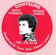 Sticker - COIFFEURS - Marc Hommes - Nadine Dames - Galgstraat,8-Zuun Sint-Pieters-Leeuw - Stickers