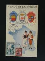 Carte Maximum Card Rattachement De Tende Et La Brigue à La France 06 ALpes Maritimes 1947 - 1940-49