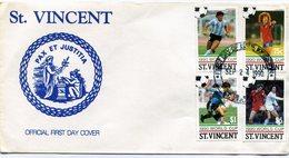 ST. VICENT. 1990. FDC. WORLD CUP. PAX ET JUSTITIA.  FUTBOL. FOOTBALL. - NTVG. - St.Vincent (1979-...)