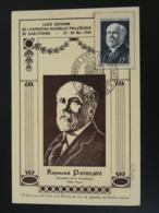 Carte Maximum Card Président Raymond Poincaré Congrès Philatélique National Saint-Etienne 1950 - 1940-49