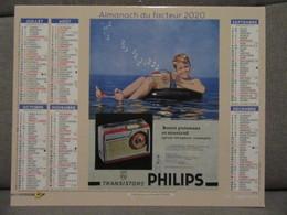 Calendrier  2020 Publicite Affiche CITROEN DS 19- Transistors PHILIPS  Département Sarthe Almanach Facteur La Poste - Calendari