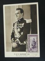 Carte Maximum Card Prince Rainier III Monaco 1950 - Cartoline Maximum