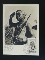 Carte Maximum Card Danseur Du Sud Tulear Madagascar 1954 - Madagascar (1889-1960)