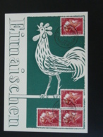 Carte Maximum Card Coq Rooster Luxembourg Caritas 1954 - Gallinacées & Faisans
