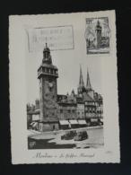 Carte Maximum Card Beffroi Jacquemart De Moulins 03 Allier 1955 - Orologeria