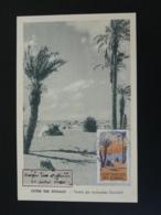 Carte Maximum Card Tente De Nomades Donakil Palmier Palm Tree Cote Des Somalis 1955 - Französich-Somaliküste (1894-1967)