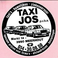 Sticker - TAXI JOS - Markr 14 Meerhout - Stickers
