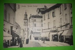 Cartolina - Parma - Strada Cavour -  1917 - Parma