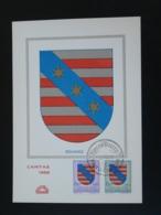Carte Maximum Card Armoiries De Redange Coat Of Arm Caritas 1958 Luxembourg - Cartes Maximum