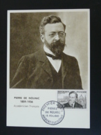 Carte Maximum Card Pierre De Nolhac Ambert 63 Puy De Dome 1960 - Scrittori