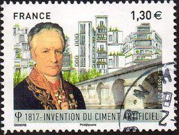 Oblitération Cachet à Date Sur Timbre De France N° 5153 Invention Du Ciment Artificiel Par L.VICAT - Pont. - France
